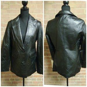 Lucky | NWT Classic Leather Blazer Jacket Black